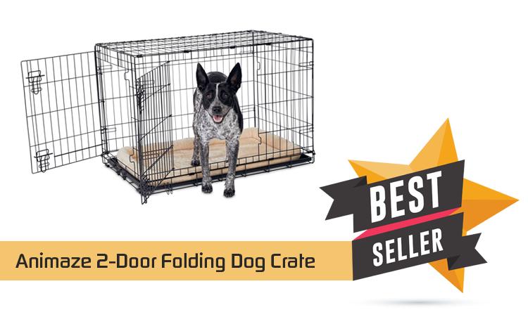 Animaze 2-Door Folding Dog Crate – Animals & Pet Supplies